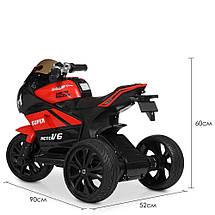 Детский мотоцикл трехколесный с подсветкой Yamaha Bambi M 4135EL-3, фото 3