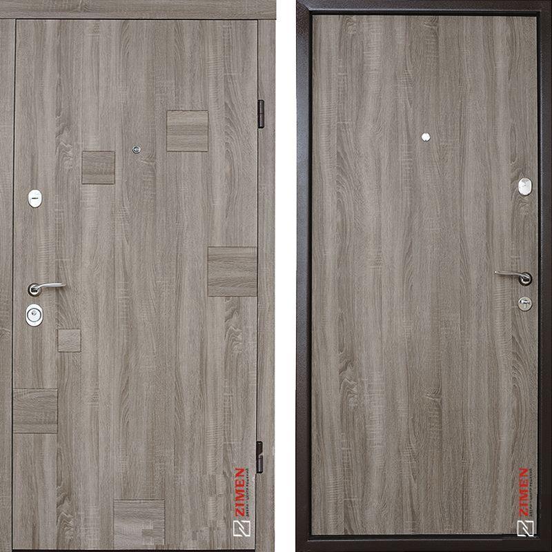 Дверь входная металлическая ZIMEN Inkanta, Optima, Fuaro, Дуб сантана, 950х2050, левая