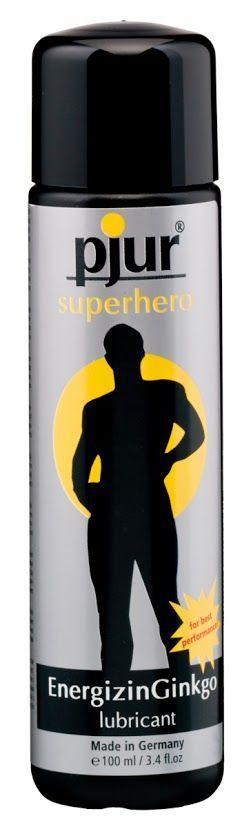 Стимулирующая смазка на водной основе pjur Superhero glide 100 мл, с экстрактом гинкго билоба