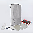 Чехол для Макбук Macbook Air/Pro 13,3'' с ручкой - темно-серый, фото 8