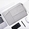Чехол для Макбук Macbook Air/Pro 13,3'' с ручкой - темно-серый, фото 4