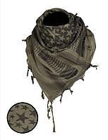 Арафатка-шемаг Mil-Tec Звезды черно-оливковая 110*110см 100% хлопок