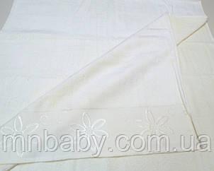 Полотенце велюр 70*140 см молоко