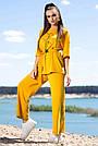 Женский прогулочный костюм летний цвет горчица двунитка, фото 2