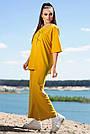 Женский прогулочный костюм летний цвет горчица двунитка, фото 4