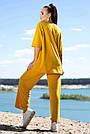 Женский прогулочный костюм летний цвет горчица двунитка, фото 6