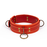 Премиум ошейник LOVECRAFT размер S красный, натуральная кожа, в подарочной упаковке