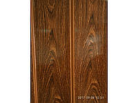 Дверь гармошка межкомнатная полуостекленная, черешня 7107, 860х2030х10мм