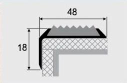 Порог алюминиевый 7-А