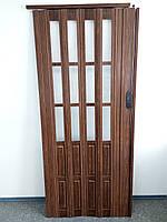 Дверь гармошка межкомнатная полуостекленная, ассортимент цветов, 860х2030х10мм