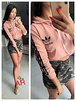 Женская спортивная кофта топ с капюшоном (Фабричный Китай)