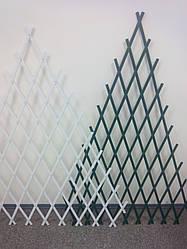 Шпалера решетка садовая пирамидка 1.5х1м белая,зеленая опора для растений с доставкой по Украине