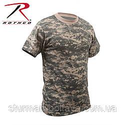 Футболка армейская камуфляжная   АСU - digital  ат-диджитал ткань смесовая  большие  размеры  ROTCHO США