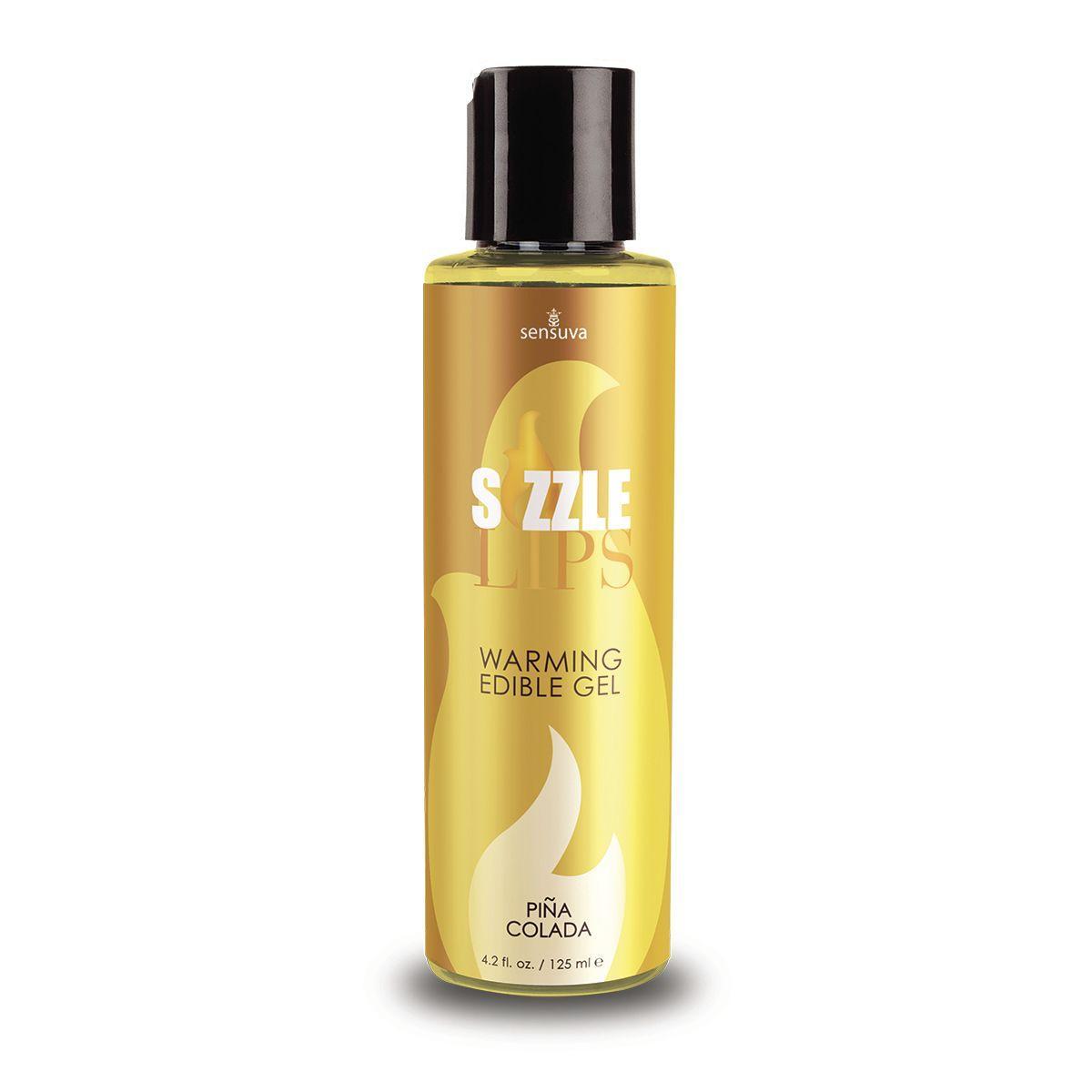 Согревающий массажный гель Sensuva - Sizzle Lips Pina Colada (125 мл), без сахара, съедобный