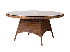 Стол крулый со стеклом Monte Carlo 1.5 м.