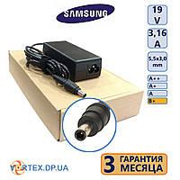 Зарядное устройство для ноутбука 5,5-3,0 mm pin inside 3,16A 19V Samsung класс B+ нов