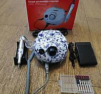 Фрезер для маникюра Nail Drill ZS-601, 65W 45 000 об/мин (цвет - зимний узор)