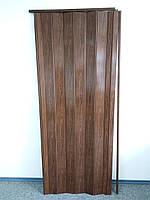 Двері міжкімнатні гармошка глуха, дуб темний 7036, 810*2030*6 мм