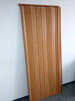 Дверь гармошка межкомнатная глухая, вишня 501, 810*2030*6 мм