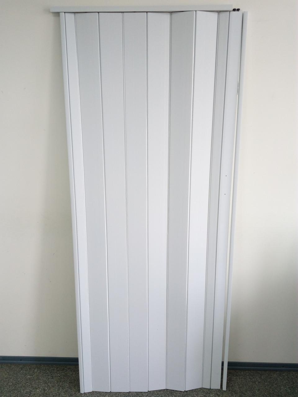 Дверь гармошка межкомнатная глухая, белая 822, 810*2030*6 мм