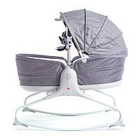 Крісло-ліжко-гойдалка 3 в 1 Tiny Love Мамині обійми Сіра з капюшоном (1805500030)