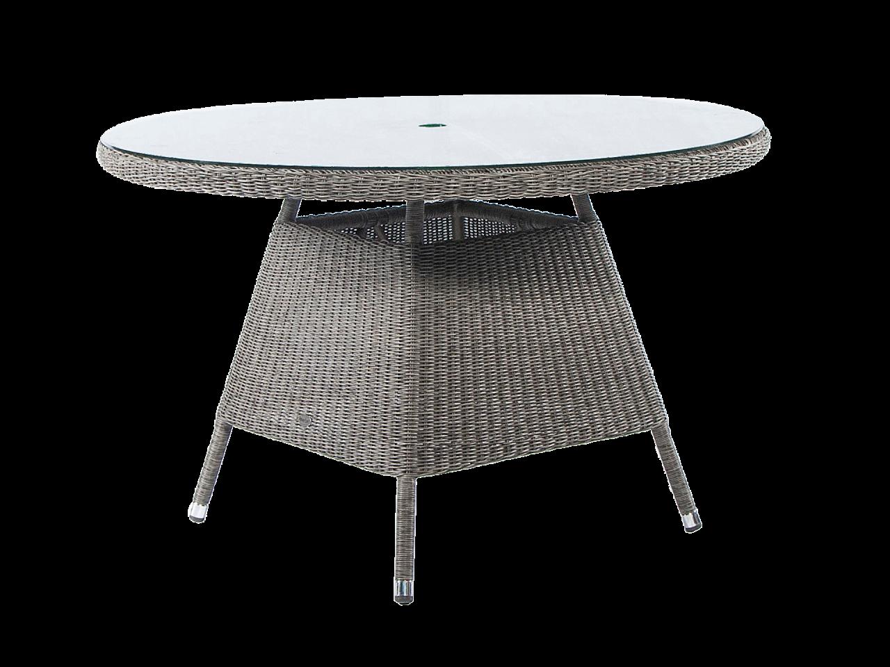 Стол круглый со стеклом Monte Carlo 1.2 м.