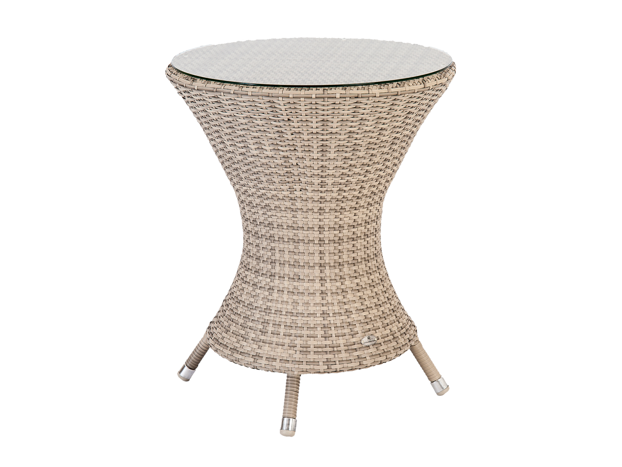 Ocean Wave Bistro Table 0.6m W. Glass