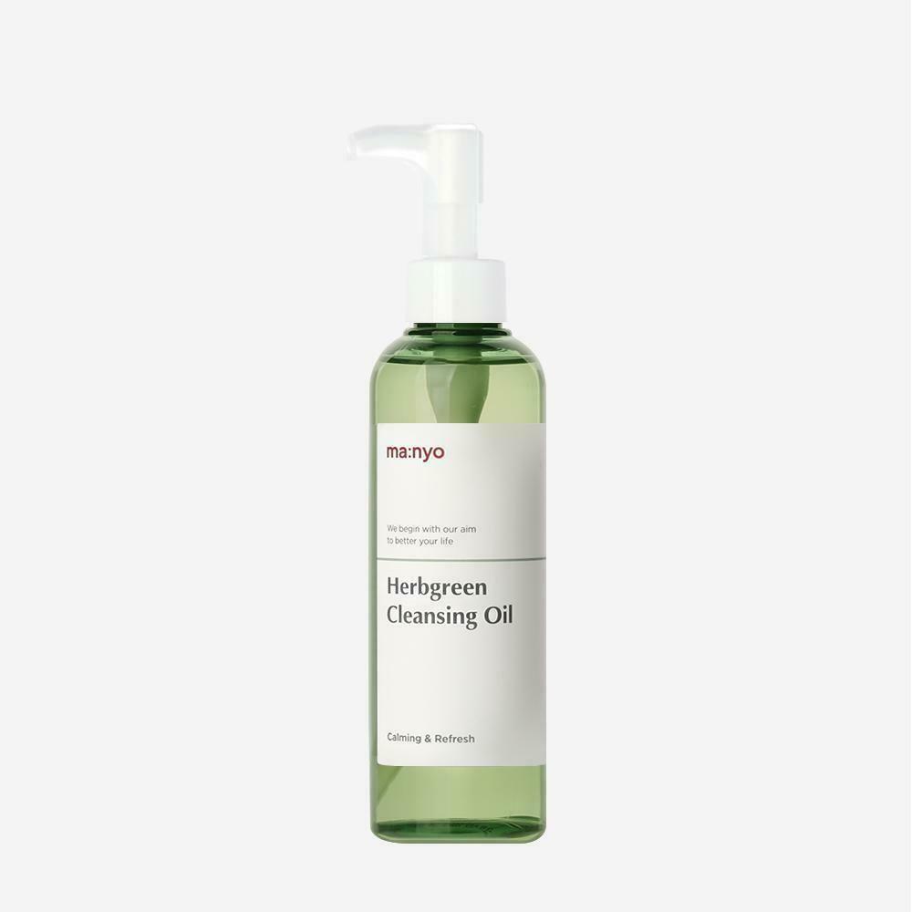 Очищающее гидрофильное масло с экстрактами трав MANYO Herb Green Cleansing Oil, 200 мл