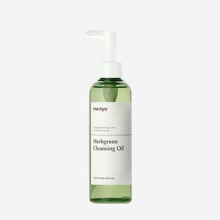 Очищающее гидрофильное масло с экстрактами трав MANYO Herb Green Cleansing Oil, 200 мл, фото 2