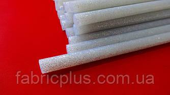Клей для термопистолета с блестками серебро 7 мм х 300 мм