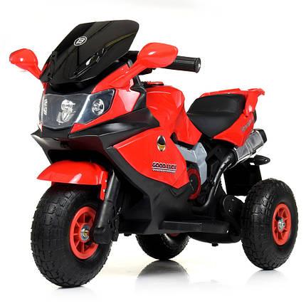 Электромотоцикл детский 2 мотора красный Bambi M 4189AL-3, фото 2
