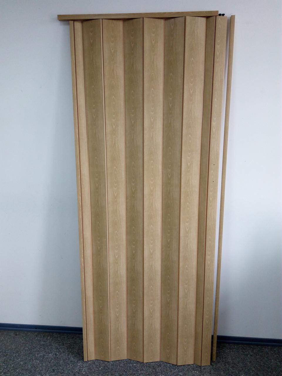 Дверь гармошка межкомнатная глухая, бук матовый 803, 810*2030*6мм