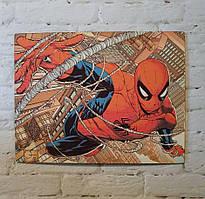 """Картина на дереве - Постер """"Человек Паук"""" 35 x 27 см"""