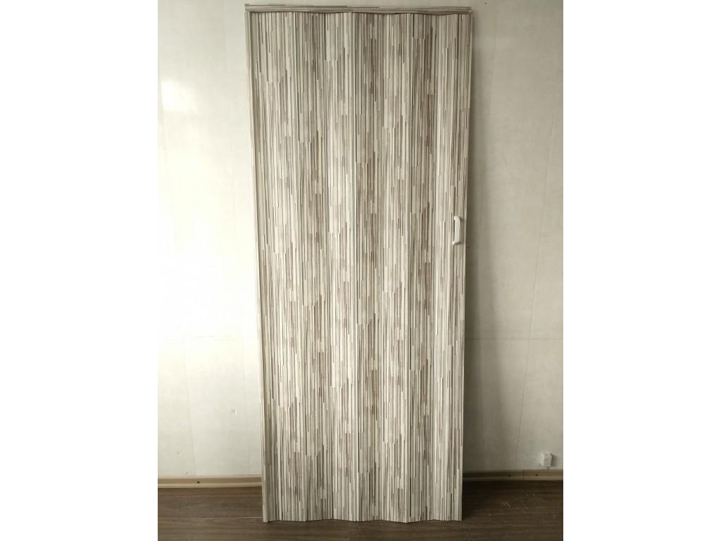 Двері міжкімнатні гармошка глуха, бамбук 910, 810*2030*6мм