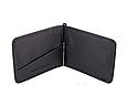 Недорогой кожаный зажим для денег (4511) black, фото 2