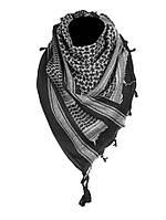 Арафатка-шемаг Mil-Tec черно-белая 110*110 см 100% хлопок, фото 1
