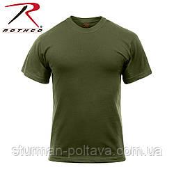Футболка мужская  армейская Solid Color 100% Cotton цвет олива  большой размер    Rothco   USA