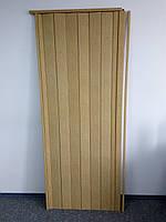 Дверь гармошка межкомнатная глухая метровая, дуб светлый 269, 1000*2030*6 мм