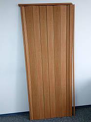 Дверь гармошка межкомнатная глухая метровая, вишня 501, 1000*2030*6 мм