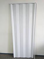 Дверь гармошка межкомнатная глухая метровая, белый ясень 610, 1000*2030*6 мм