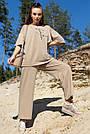 Женский прогулочный летний костюм цвет кофе двунитка, фото 2