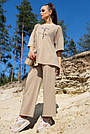 Женский прогулочный летний костюм цвет кофе двунитка, фото 6