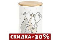 Банка керамическая с бамбуковой крышкой Веселая семейка, 850мл DM551-Q