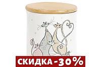 Банка керамическая с бамбуковой крышкой Веселая семейка, 810мл  DM552-Q