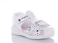 Детские летние босоножки / сандали для девочки на липучке белые Jong Golf, размер 25