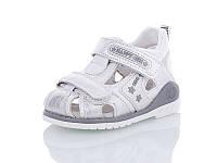 Детские летние босоножки / сандали для девочки на липучке белые Jong Golf, размер 24