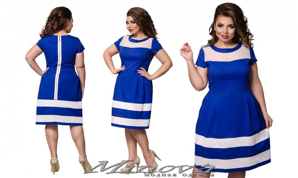 Великолепное женское платье, ткань *Лен*  50, 52, 56 размер батал