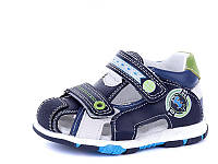 Детские летние босоножки / сандали для мальчика на липучке синие Jong Golf, размеры 23, 25