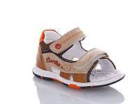 Детские летние босоножки / сандали для мальчика на липучке коричневые Jong Golf, размеры 22-26