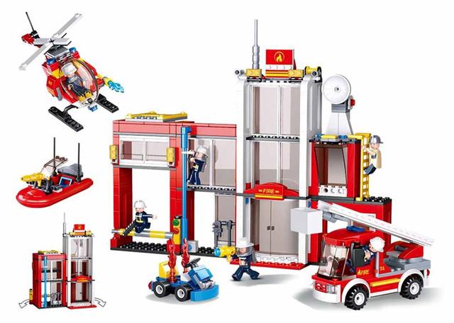 Конструктор Пожарная станция Sluban  M38-B0631, 612 дет